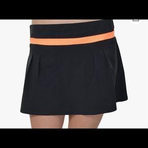 Adidas Climalite Black and glow orange tennis skirt (skort) XL